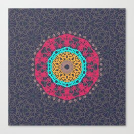 Bohemian Tangle Mandala | Zendala Canvas Print