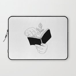 when you read inside the germinate flowers Laptop Sleeve