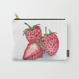 Watercolour Strawberries Carry-All Pouch