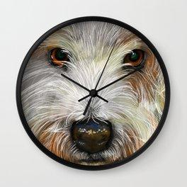 The westie-selfie Wall Clock