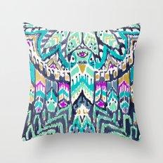 Parrot Tribe Throw Pillow