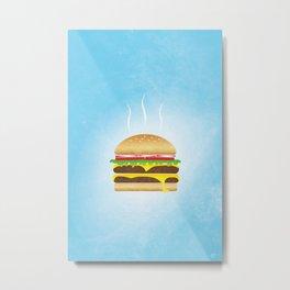 Burger Food Poster Metal Print