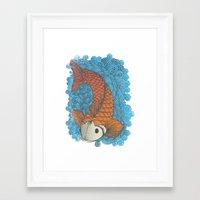 koi Framed Art Prints featuring KOI by Matthew Taylor Wilson
