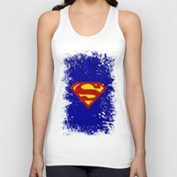 superman Tank Tops featuring Superman by Some_Designs