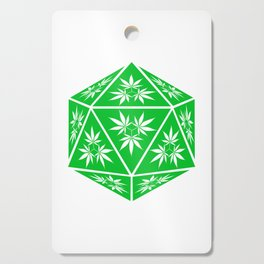 D20 Pot Leaf Crit Dice Cutting Board