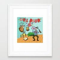 evil dead Framed Art Prints featuring ♥ EVIL DEAD 2 ♥ by Josh LaFayette