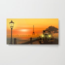 Paris Nostalgia Metal Print