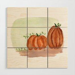 Fall Pumpkins Wood Wall Art