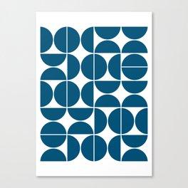 Mid Century Modern Geometric 04 Blue Canvas Print