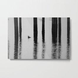 Hooded Merganser Metal Print