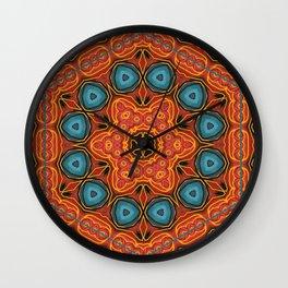 Blue Inward Wind Wall Clock