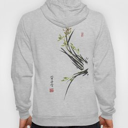 Green Wild Orchid Two Hoody
