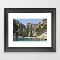 french alcove beach Framed Art Print