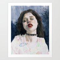 sky ferreira Art Prints featuring Sky Ferreira II by Jethro Lacson