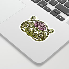 Nouveau Thistle Sticker
