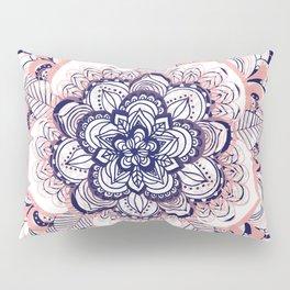 Woven Dream - Mandala in Pink, White and deep Purple Pillow Sham