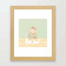 Just eat ! Framed Art Print