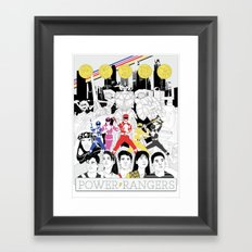 The Mightiest, Morphin'est Framed Art Print