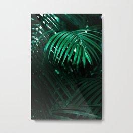 DARK TROPICAL RAINFOREST LEAVES Metal Print