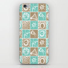 Microscopic Life Sillouetts Blue and Taupe iPhone & iPod Skin