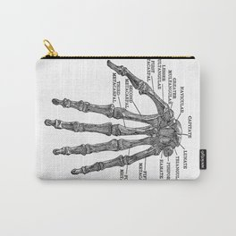 Bones of the Human Hand // Anatomy Skeleton Carry-All Pouch