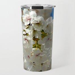 White Cherry Flowers Travel Mug