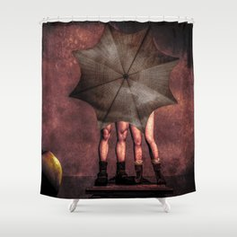 Slap and Tickle Behind The Umbrella Shower Curtain