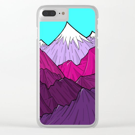 The Purple Mounts Clear iPhone Case
