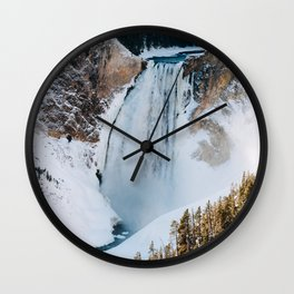 Lower Falls of the Grand Canyon of the Yellowstone Wall Clock