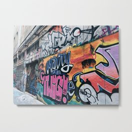 Side Walk Graffiti Street Art Metal Print
