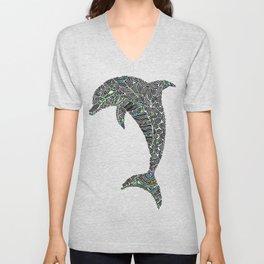 Jumping Dolphin Unisex V-Neck