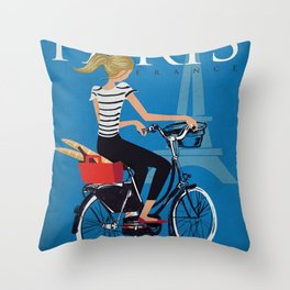 Vintage poster - Paris Throw Pillow