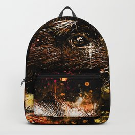 guinea pig colorful side portrait wsee Backpack
