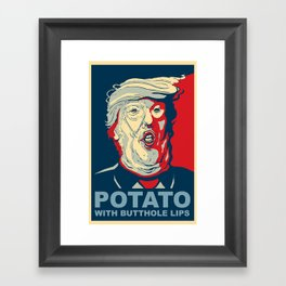 """Potato with Butthole Lips"" Framed Art Print"
