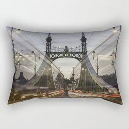 Budapest traffic Rectangular Pillow