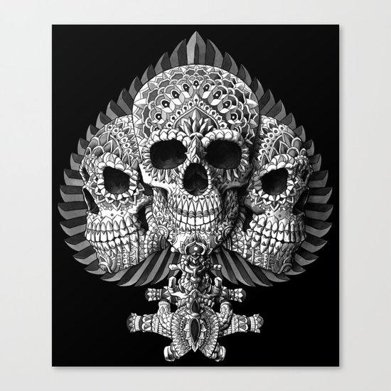 Skull Spade Canvas Print