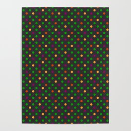 Colorful small polka dot Poster
