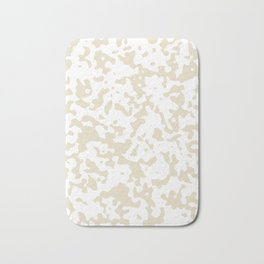 Spots - White and Pearl Brown Bath Mat