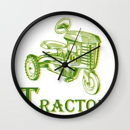 T is for Tractor Wall Clock