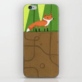 Earth Fox iPhone Skin