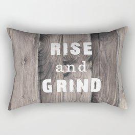 Rustic Motivation Rectangular Pillow