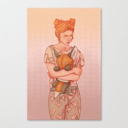 The Lady who wouldn't grow up Canvas Print