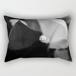 Black and White Calla-lily Rectangular Pillow