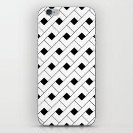 Monochrome Intricate Pattern Alpha iPhone Skin