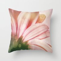 sparkle Throw Pillows featuring sparkle by  Alexia Miles photography