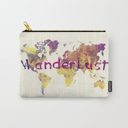 world map 90 wanderlust Carry-All Pouch