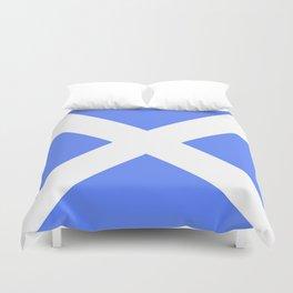 flag of scotland 4– scotland,scot,scottish,Glasgow,Edinburgh,Aberdeen,dundee,uk,cletic,celts,Gaelic Duvet Cover