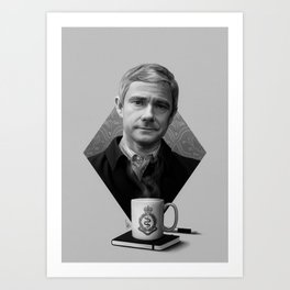 The blogging army doctor Art Print