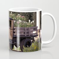 truck Mugs featuring Tulip Truck by Manda's Photography