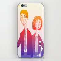 mulder iPhone & iPod Skins featuring mulder n scully by clairen0vak